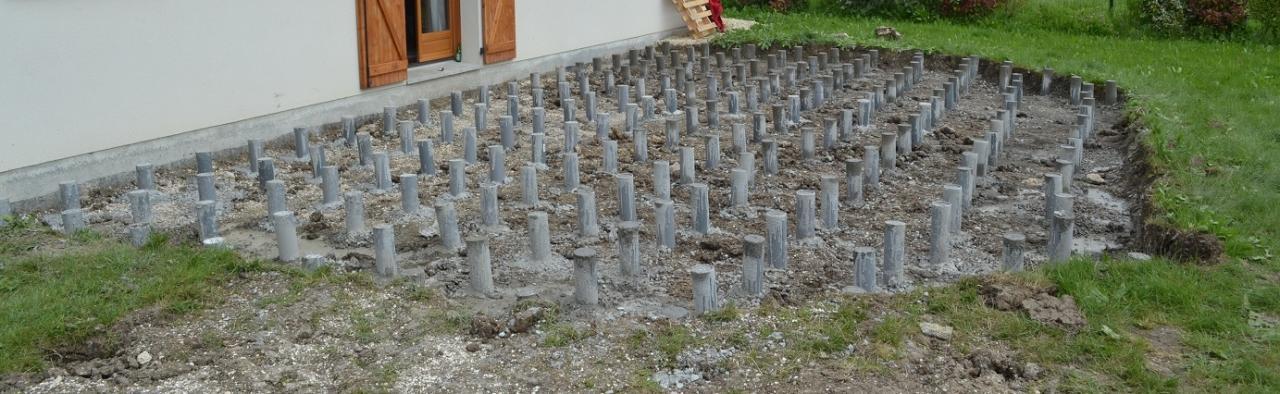 Deuxi me tape plots b tons - Plot beton terrasse ...